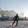 Langlaufer im Winterurlaub in Tirol